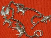 Charm of the Farm!  Fun Silver Animal Charm Bracelet (Sold)